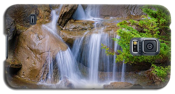 Galaxy S5 Case featuring the photograph Peaceful Waterfall by Jordan Blackstone