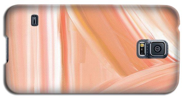 Peach Accent Galaxy S5 Case by Lourry Legarde