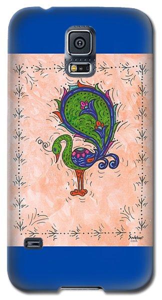 Peachy Peacock Galaxy S5 Case by Susie Weber