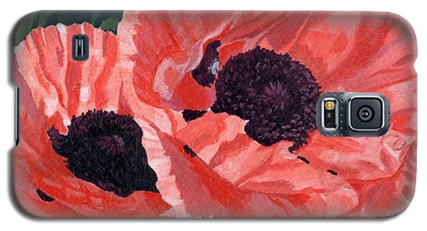 Peachy Poppies Galaxy S5 Case