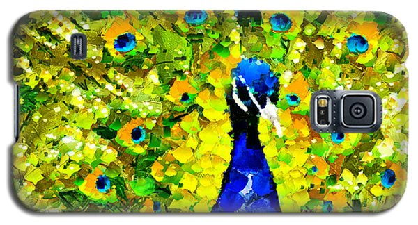 Peacock Abstract Realism Galaxy S5 Case