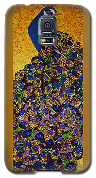 Galaxy S5 Case featuring the tapestry - textile Peacock Blue by Apanaki Temitayo M