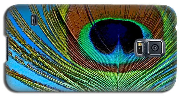 Peacock Feather 3 Galaxy S5 Case by Sally Simon