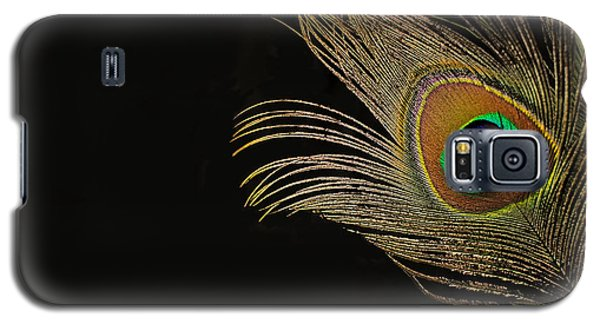 Galaxy S5 Case featuring the photograph Peacock Feather Still Life by Lisa Knechtel