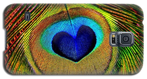Peacock Feathers Eye Of Love Galaxy S5 Case by Tracie Kaska
