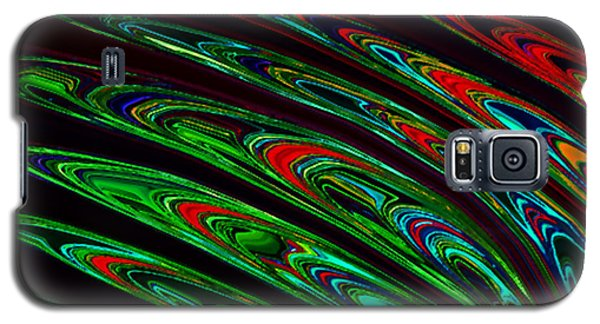 Galaxy S5 Case featuring the digital art Peacock Feathers by Gayle Price Thomas