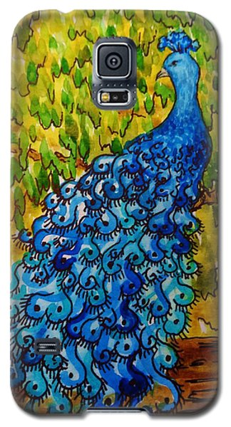 Galaxy S5 Case featuring the painting Peacock by Katherine Young-Beck