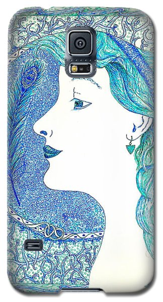 Peacock Lady Galaxy S5 Case
