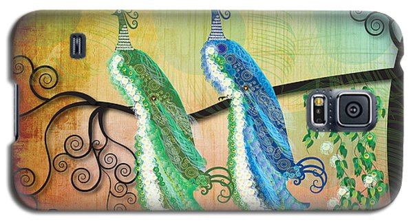 Galaxy S5 Case featuring the digital art Peacock Love by Kim Prowse