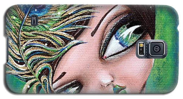 Peacock Princess Galaxy S5 Case by Lizzy Love of Oddball Art Co