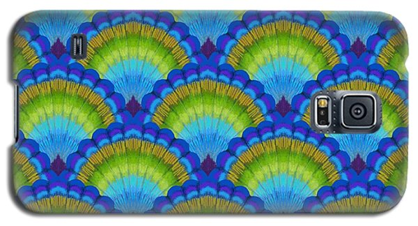 Peacock Galaxy S5 Case - Peacock Scallop Feathers by Kimberly McSparran