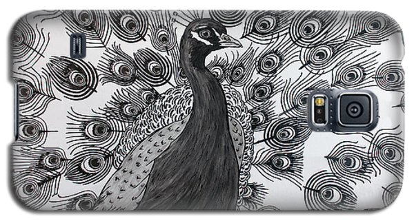 Galaxy S5 Case featuring the drawing Peacock Walk by Megan Dirsa-DuBois