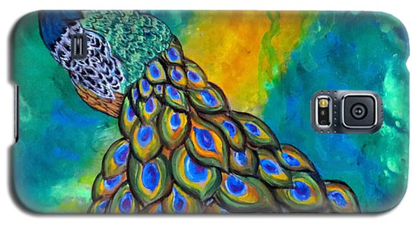 Galaxy S5 Case featuring the painting Peacock Waltz II by Ella Kaye Dickey