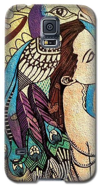 Peacock Woman Galaxy S5 Case by Amy Sorrell
