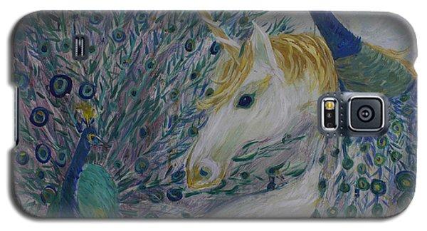 Peacocks With Unicorn Galaxy S5 Case