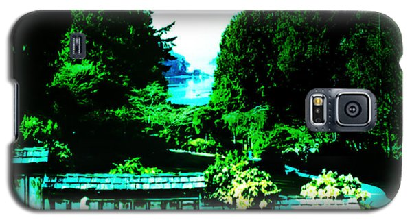 Galaxy S5 Case featuring the photograph Peaking At Gorge Waterway Victoria British Columbia by Eddie Eastwood