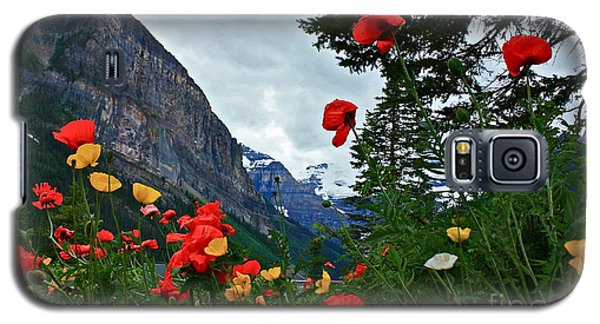 Peaks And Poppies Galaxy S5 Case