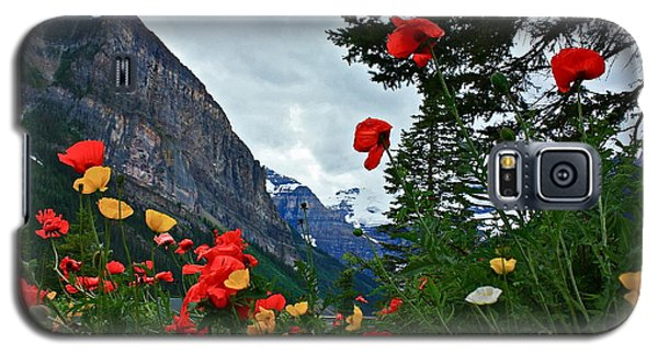Galaxy S5 Case featuring the photograph Peaks And Poppies by Linda Bianic