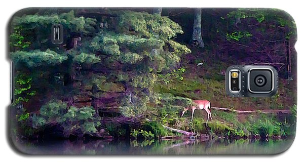 Galaxy S5 Case featuring the painting Peaks Of Otter Deer by John Haldane
