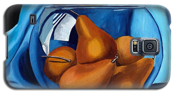Galaxy S5 Case featuring the painting Pear Anyone by Laura Forde