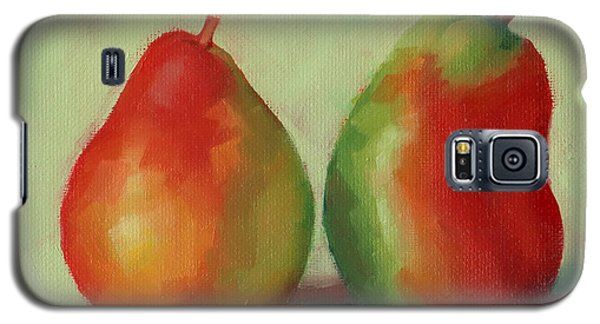 Galaxy S5 Case featuring the painting Pear Pair by Margaret Stockdale