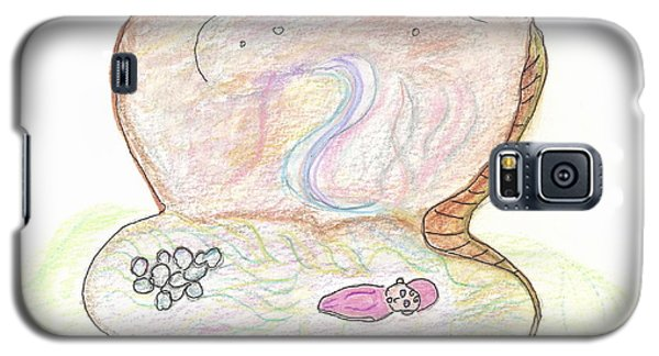 Galaxy S5 Case featuring the painting Pearl Baby by Helen Holden-Gladsky