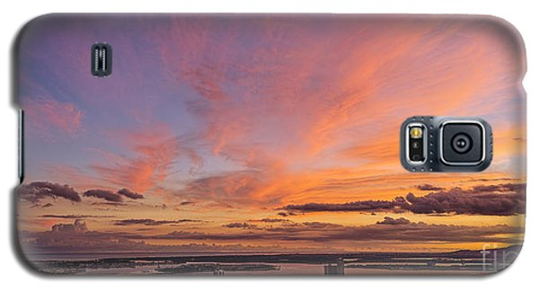 Galaxy S5 Case featuring the photograph Pearl Harbor At Sunset by Aloha Art