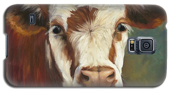 Cow Galaxy S5 Case - Pearl Iv Cow Painting by Cheri Wollenberg