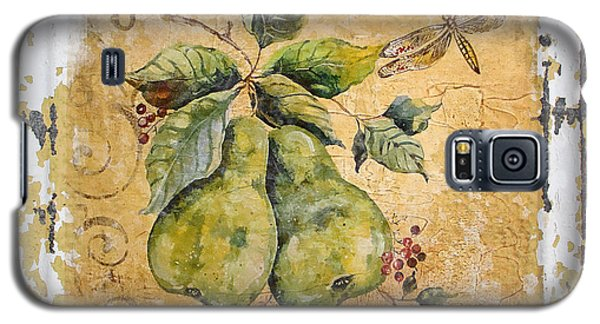 Pears And Dragonfly On Vintage Tin Galaxy S5 Case by Jean Plout
