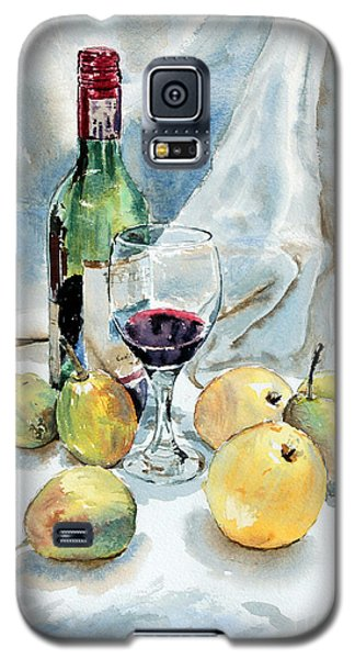 Galaxy S5 Case featuring the painting Pears And Wine by Joey Agbayani