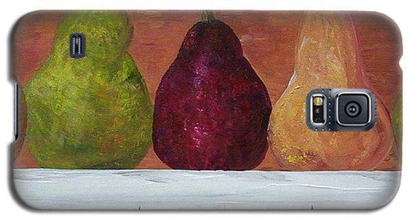 Galaxy S5 Case featuring the painting Pears On Parade   by Eloise Schneider