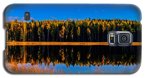 Galaxy S5 Case featuring the photograph Peavine Pond Panorama by Rob Tullis