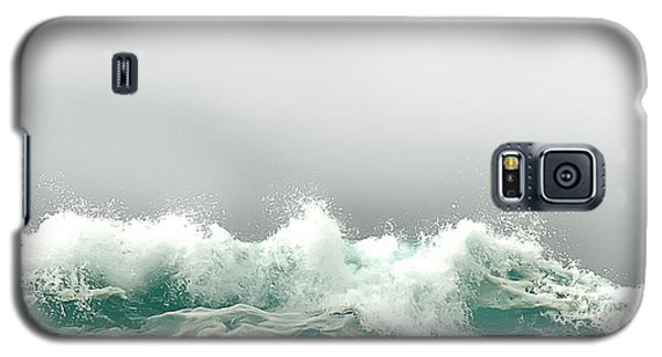 Pebble Beach In The Fog Galaxy S5 Case by Artist and Photographer Laura Wrede