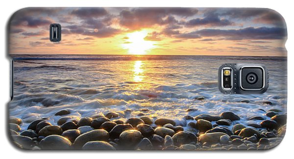 Galaxy S5 Case featuring the photograph Pebble Beach by Robert  Aycock