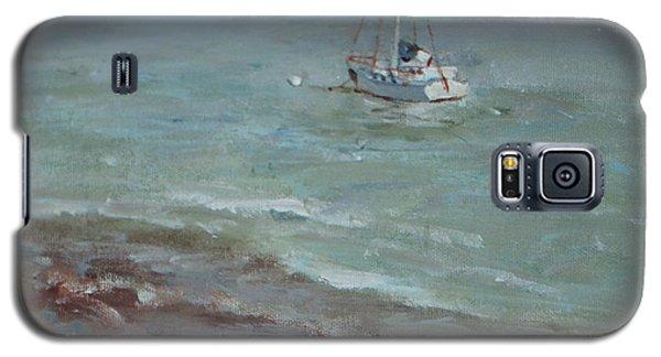 Pebbly Beach Sail Boat Galaxy S5 Case