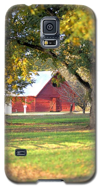 Galaxy S5 Case featuring the photograph Pecan Orchard Barn by Gordon Elwell