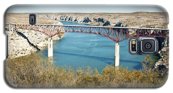 Galaxy S5 Case featuring the photograph Pecos Bridge by Erika Weber