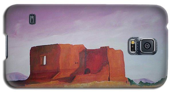 Galaxy S5 Case featuring the painting Pecos Mission Landscape by Eric  Schiabor