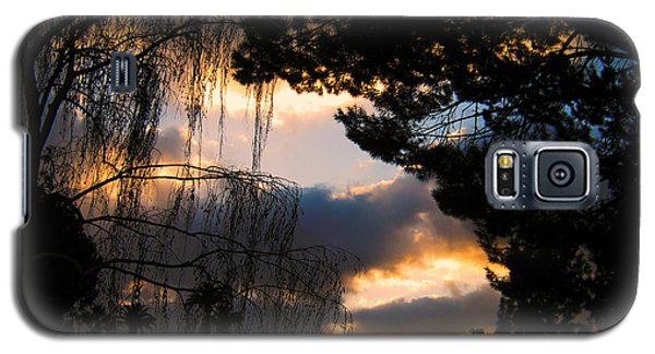 Galaxy S5 Case featuring the photograph Peek A Boo Sunset by Janice Westerberg