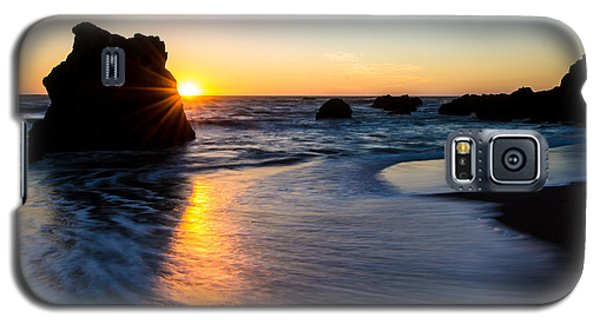 Galaxy S5 Case featuring the photograph Peeking Sun by CML Brown