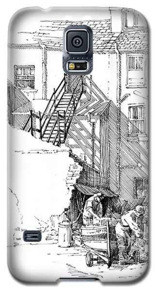 Galaxy S5 Case featuring the drawing Peel Back Street by Paul Davenport