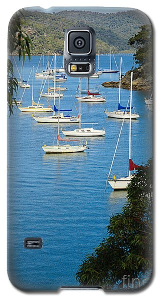 Peeping Through The Trees - Yachts Moored In A Quiet River Galaxy S5 Case