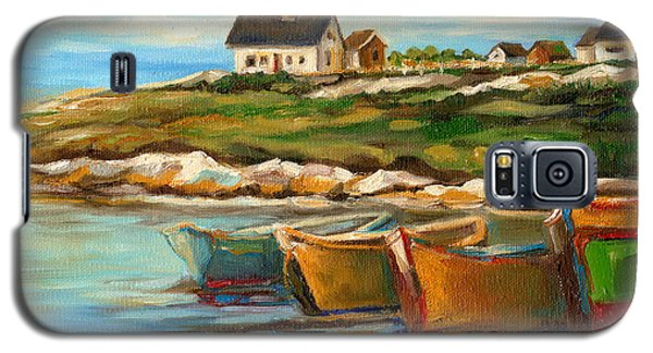 Peggys Cove With Fishing Boats Galaxy S5 Case