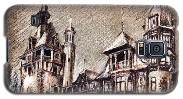 Peles Castle Romania Drawing Galaxy S5 Case