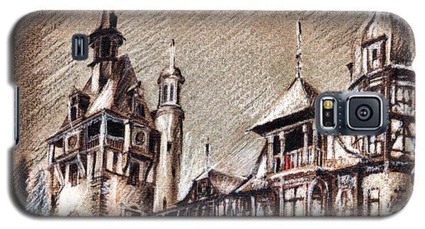 Peles Castle Romania Drawing Galaxy S5 Case