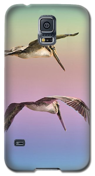 Galaxy S5 Case featuring the photograph Pelican Flight by Joseph Hollingsworth