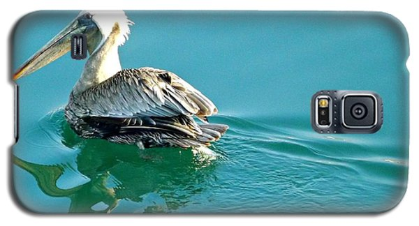 Galaxy S5 Case featuring the photograph Pelican Swimming by Clare Bevan