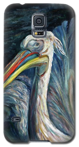 Galaxy S5 Case featuring the painting Pelican by Xueling Zou
