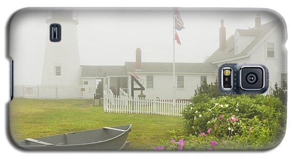 Pemaquid Point Lighthouse In Fog Maine Prints Galaxy S5 Case by Keith Webber Jr