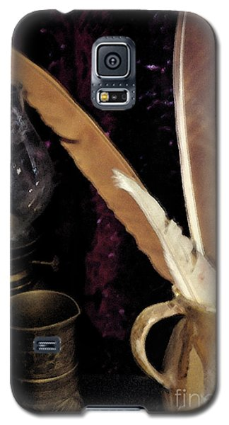 Galaxy S5 Case featuring the photograph Pen Your Thoughts by Linda Shafer